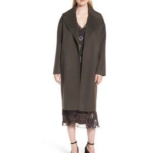 Lewit Olive Double-Face Wool & Cashmere Coat